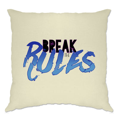 Rebel Cushion Cover Break The Rules Skull And Crossbones