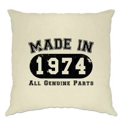 Birthday Cushion Cover Made in 1974 All Genuine Parts
