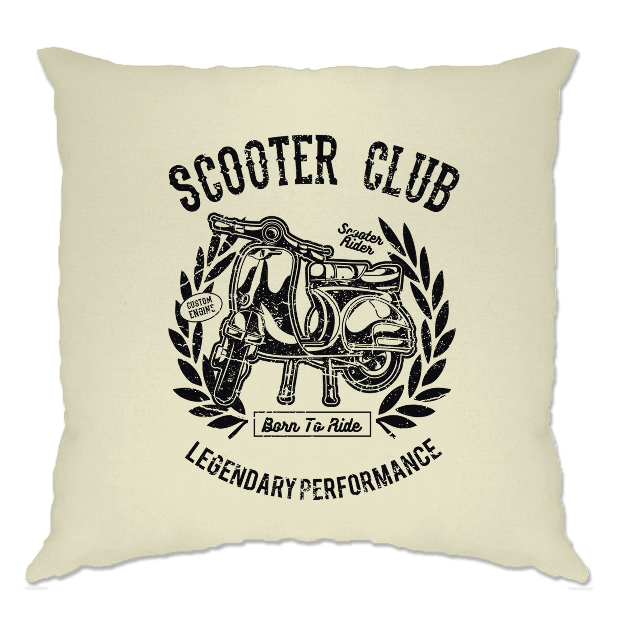 Motorbike Cushion Cover Scooter Club Legendary Performance