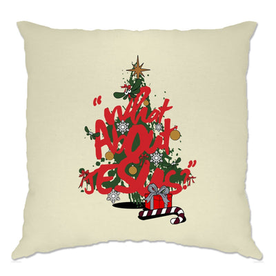 Christmas Cushion Cover What About Jesus Graffiti