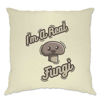 Novelty Vegan Cushion Cover I'm A Real Fun Guy Fungi Pun
