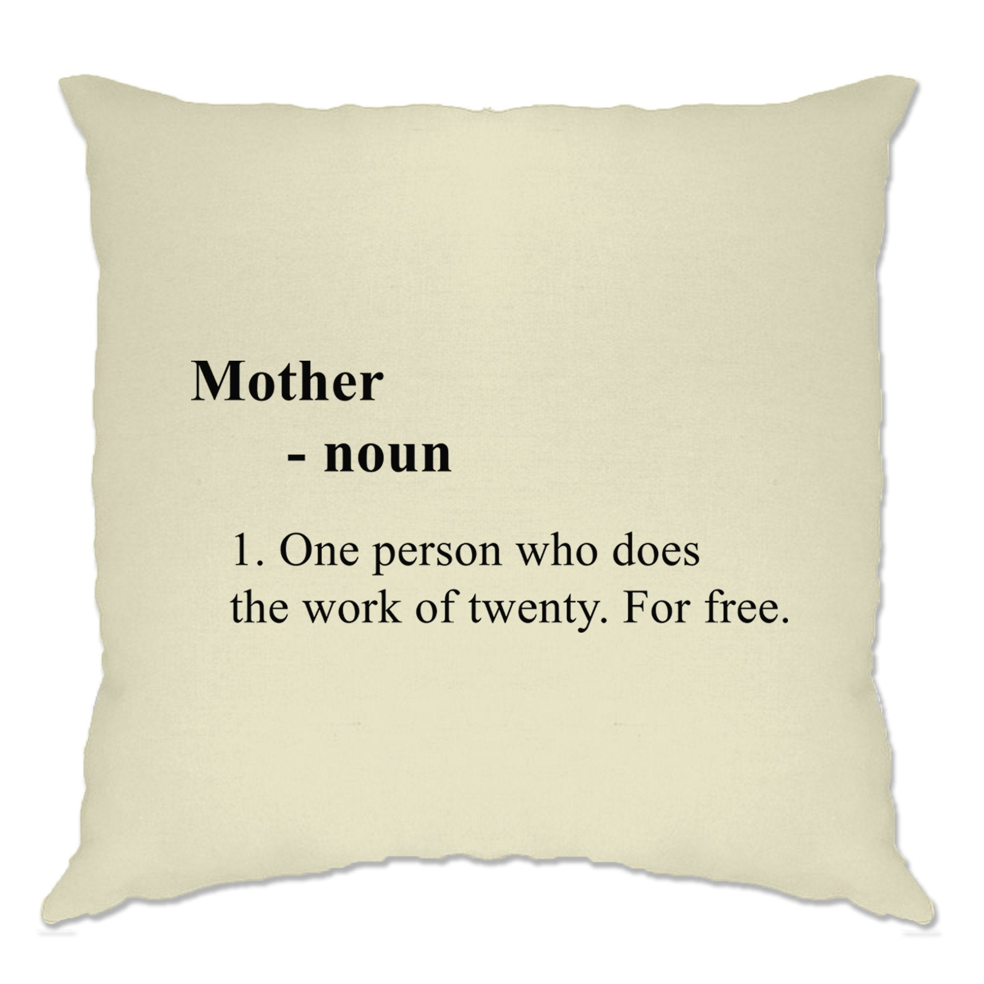 Mother's Day Cushion Cover Novelty Dictionary Definition