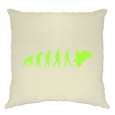 Motorcycle Cushion Cover Neon Green Evolution of a Biker