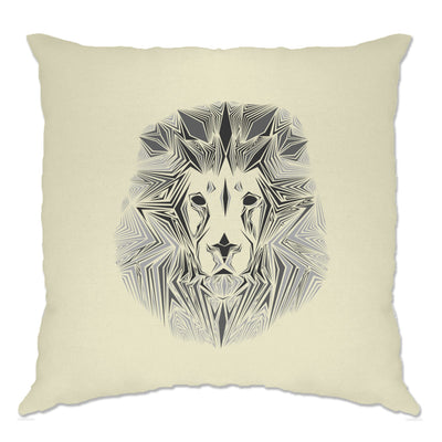 Wildlife Art Cushion Cover Geometric Lion Graphic