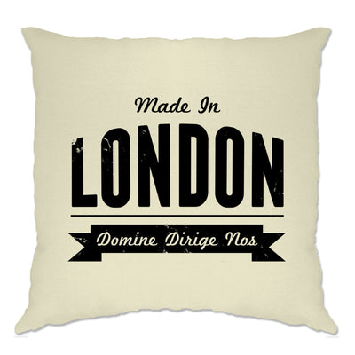 Hometown Pride Cushion Cover Made in London Banner