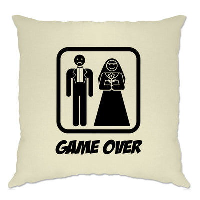 Game Over Novelty Cushion Cover Wedding Stag Do Hen Night
