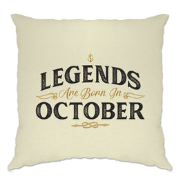 Birthday Cushion Cover Legends Are Born In October