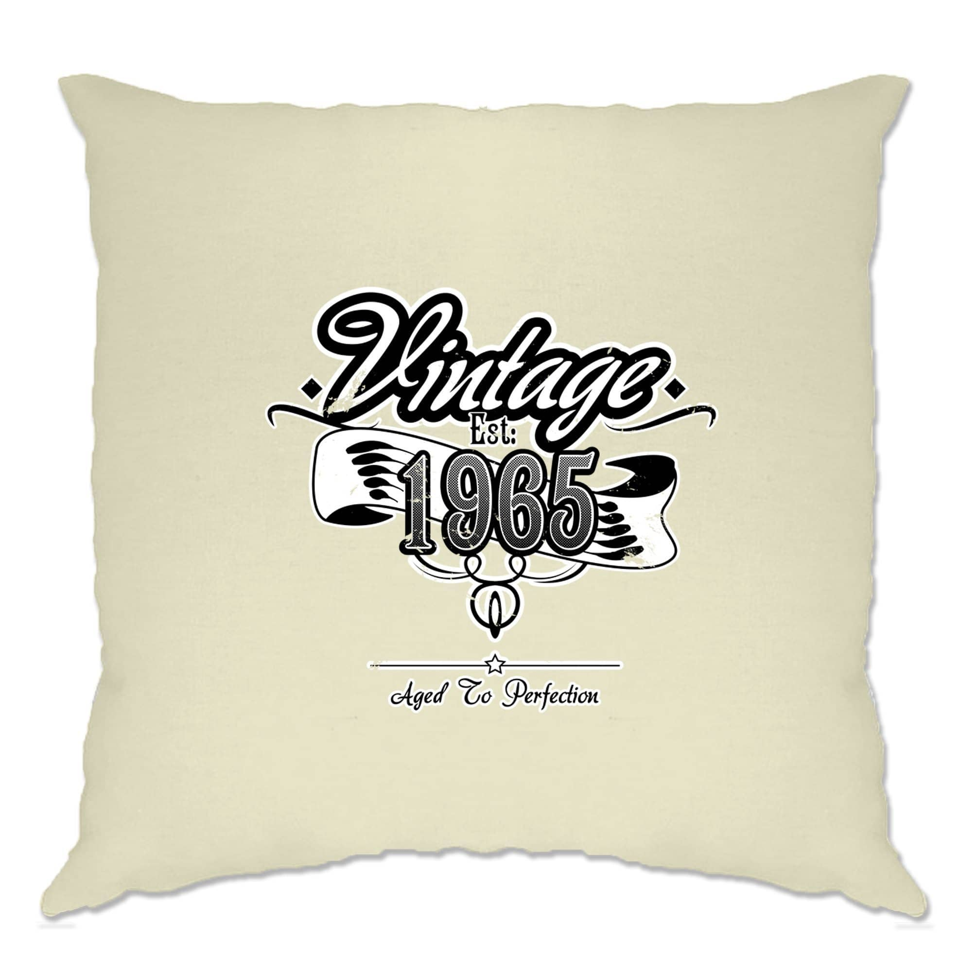 Birthday Cushion Cover Vintage Est. 1965 Aged To Perfection