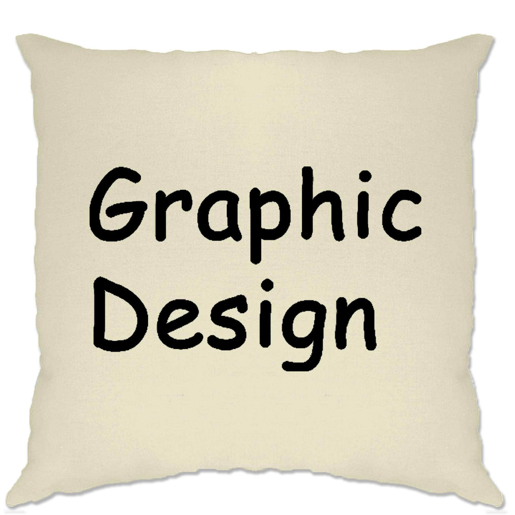 Novelty Designer Cushion Cover Graphic Design Comic Sans