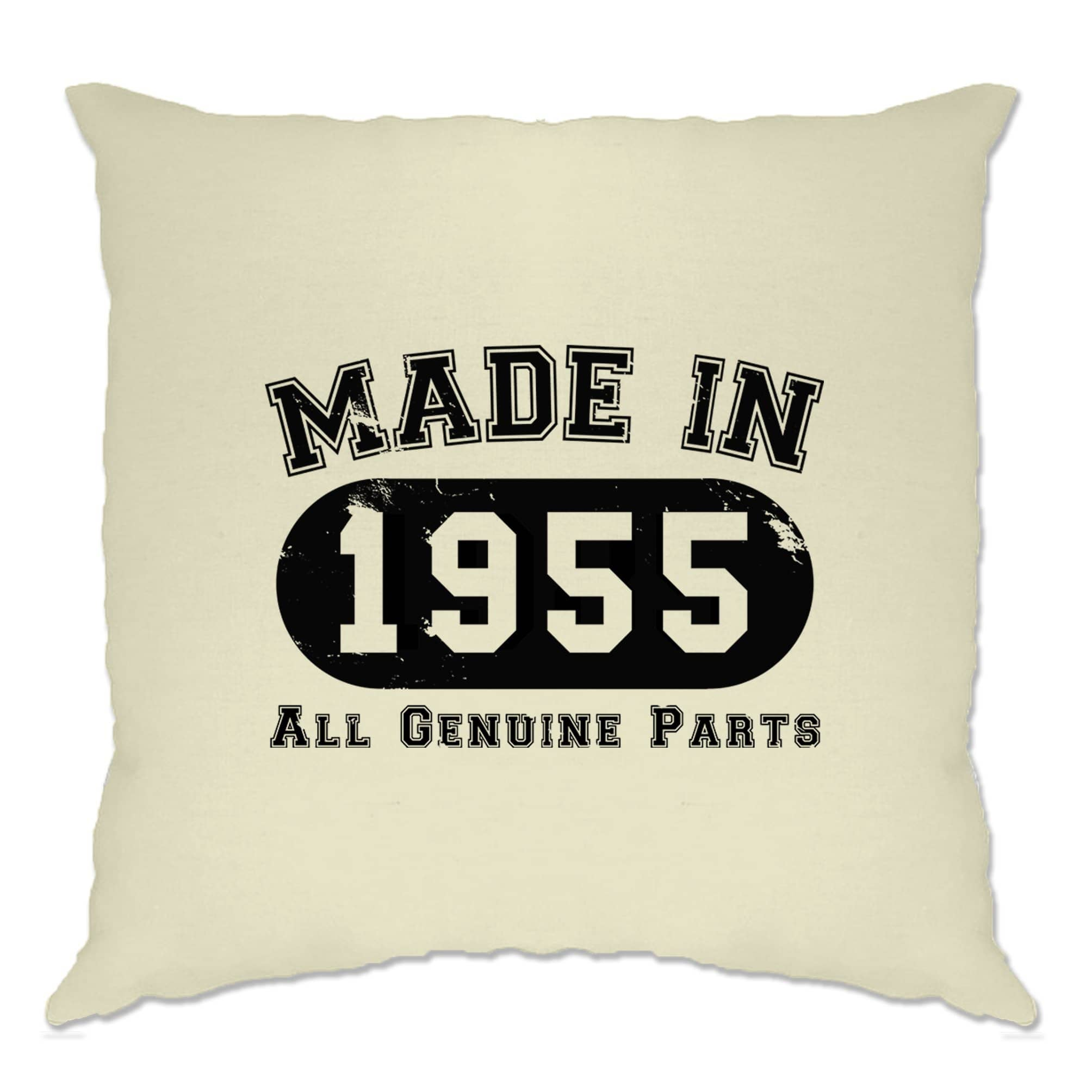 Birthday Cushion Cover Made in 1955 All Genuine Parts