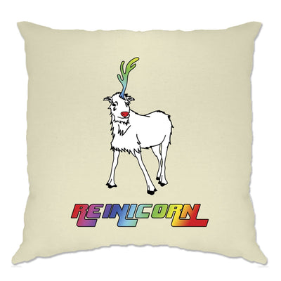 Christmas Cushion Cover Reinicorn Reindeer Unicorn