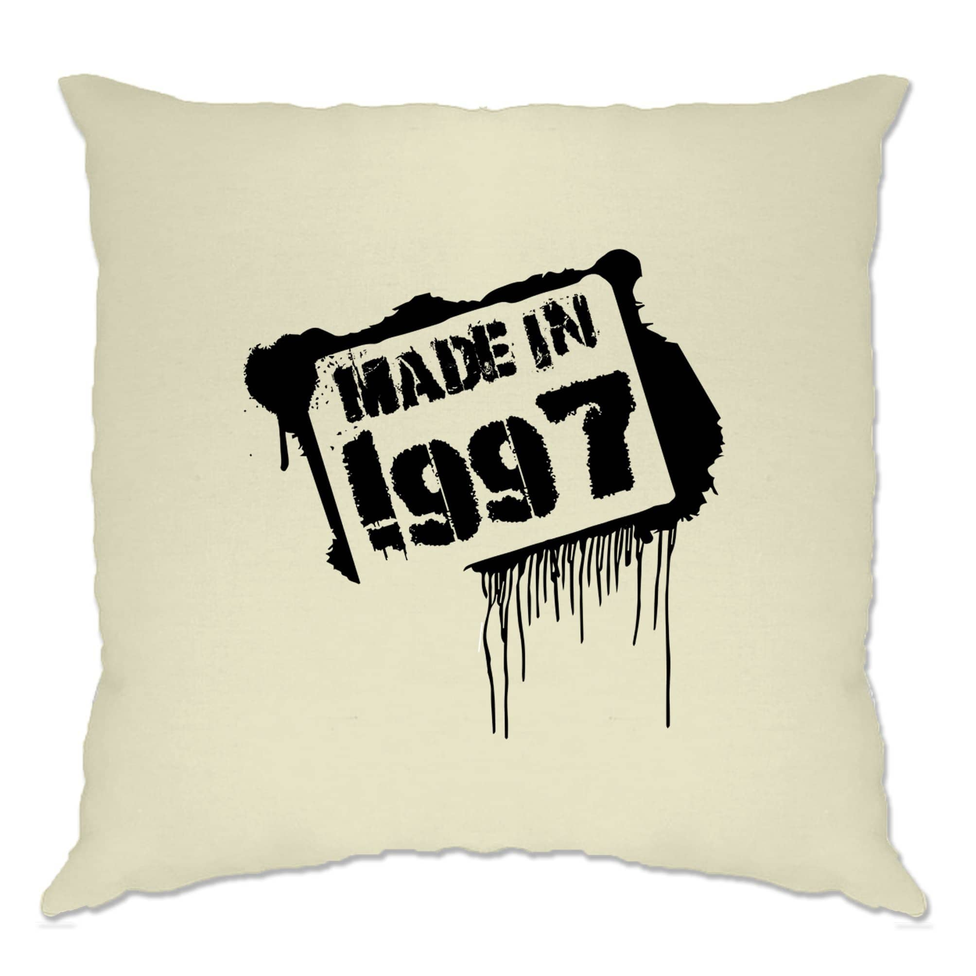 Birthday Cushion Cover Made In 1997 Graffiti