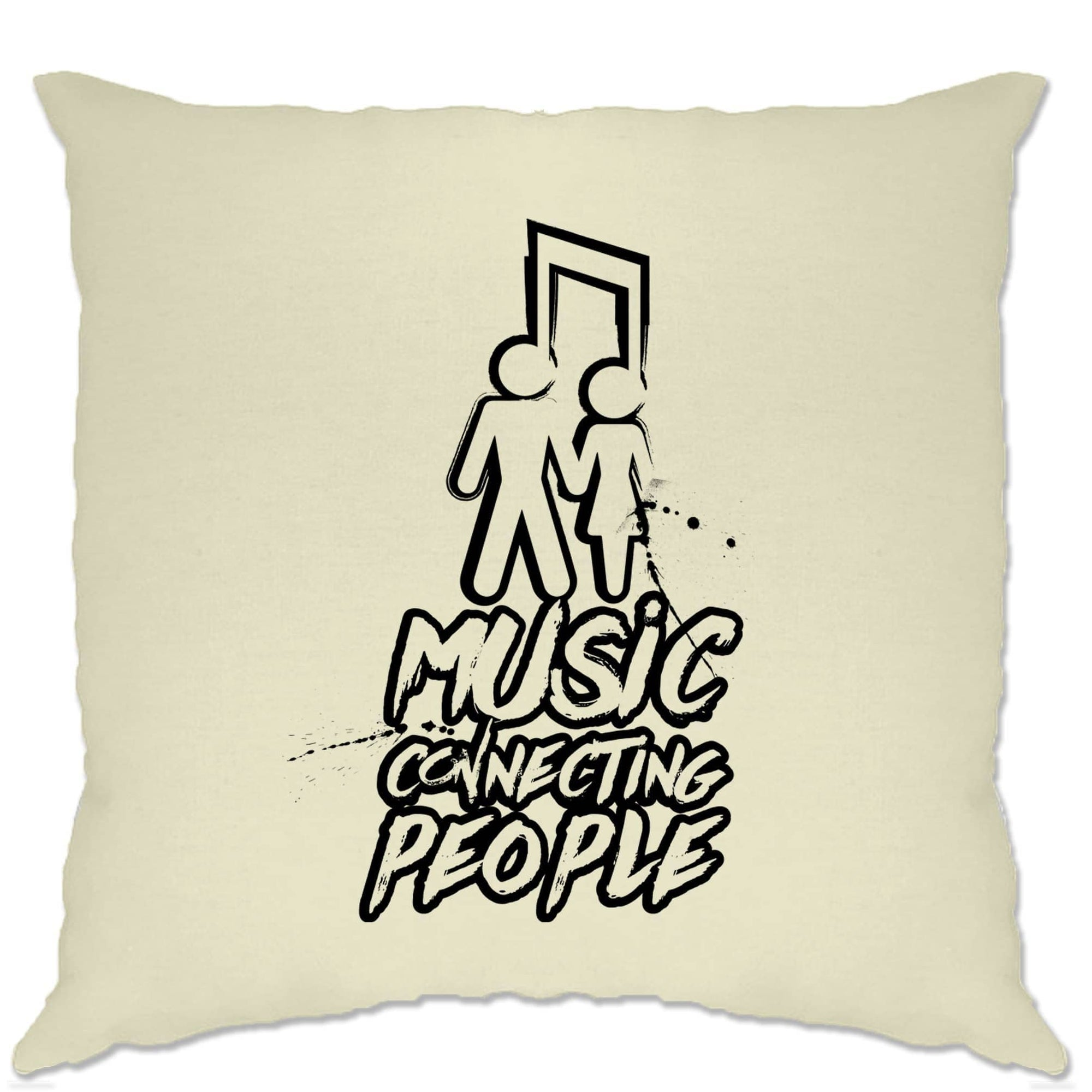 Cute Couples Cushion Cover Music Connecting People Slogan