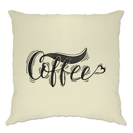 Novelty Slogan Cushion Cover Coffee Heart Logo