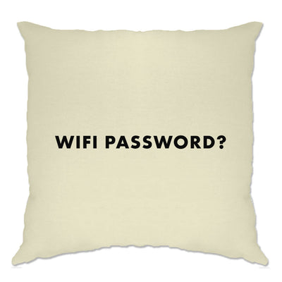 Novelty Nerdy Cushion Cover Wifi Password Slogan