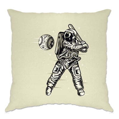 Geeky Sports Cushion Cover Astronaut Space Baseball Art