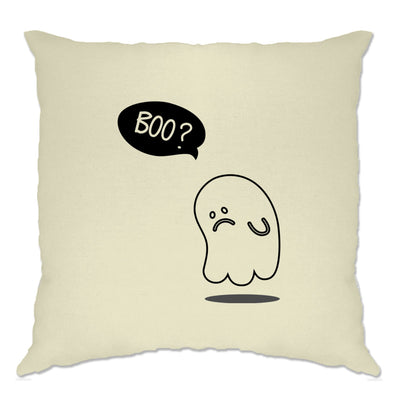 Novelty Halloween Cushion Cover Sad Ghost Joke
