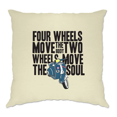 Biking Cushion Cover Two Wheels Move The Soul Biker Slogan