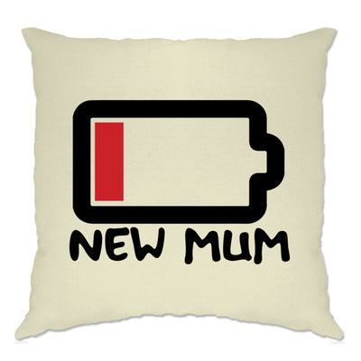 New Mum Cushion Cover Low Battery Remaining Novelty Joke