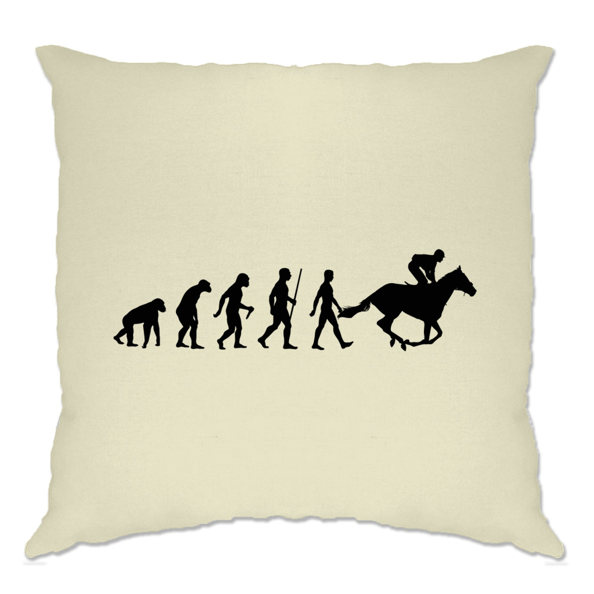 Sport Cushion Cover Evolution Of Horse Riding Equestrian