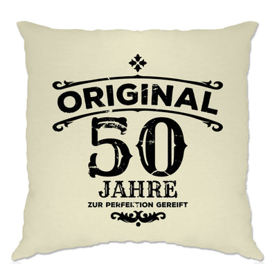 50th Birthday Cushion Cover Original Aged 50 Fifty Years