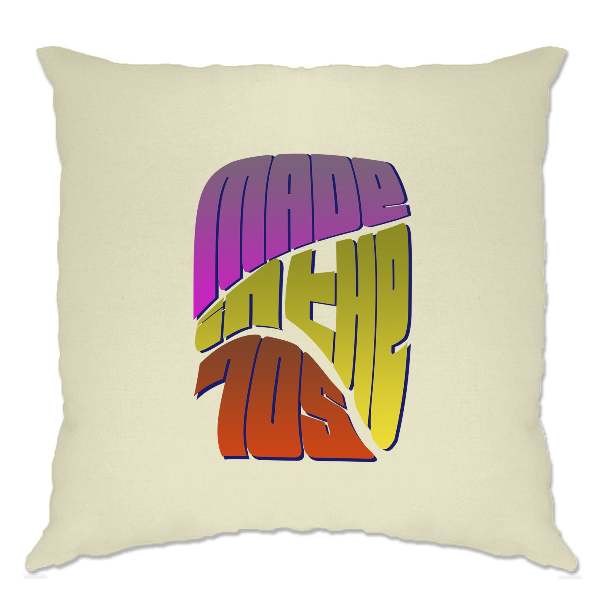 Retro Birthday Cushion Cover Made In The 70s