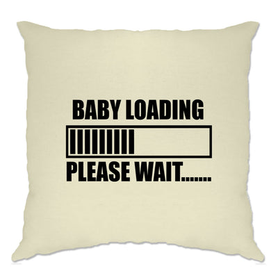 Novelty Cushion Cover Baby Loading Bar Please Wait
