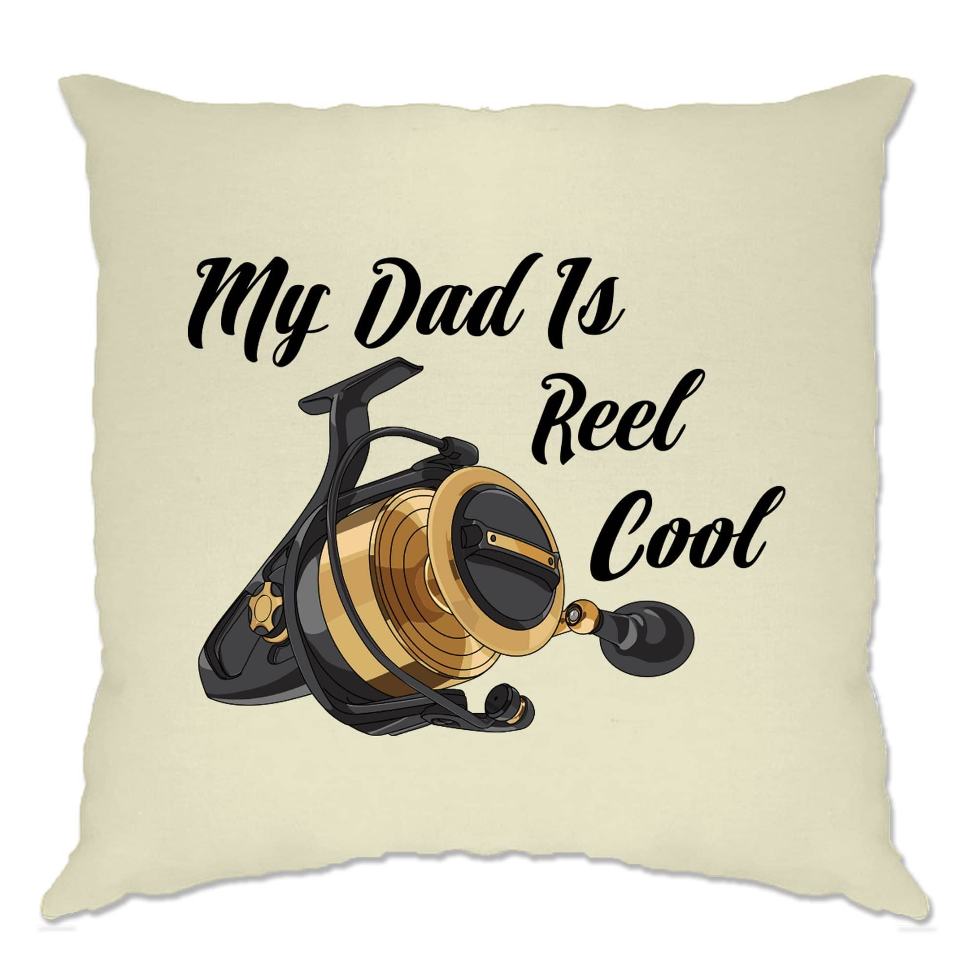 Father's Day Fishing Cushion Cover My Dad Is Reel Cool Pun