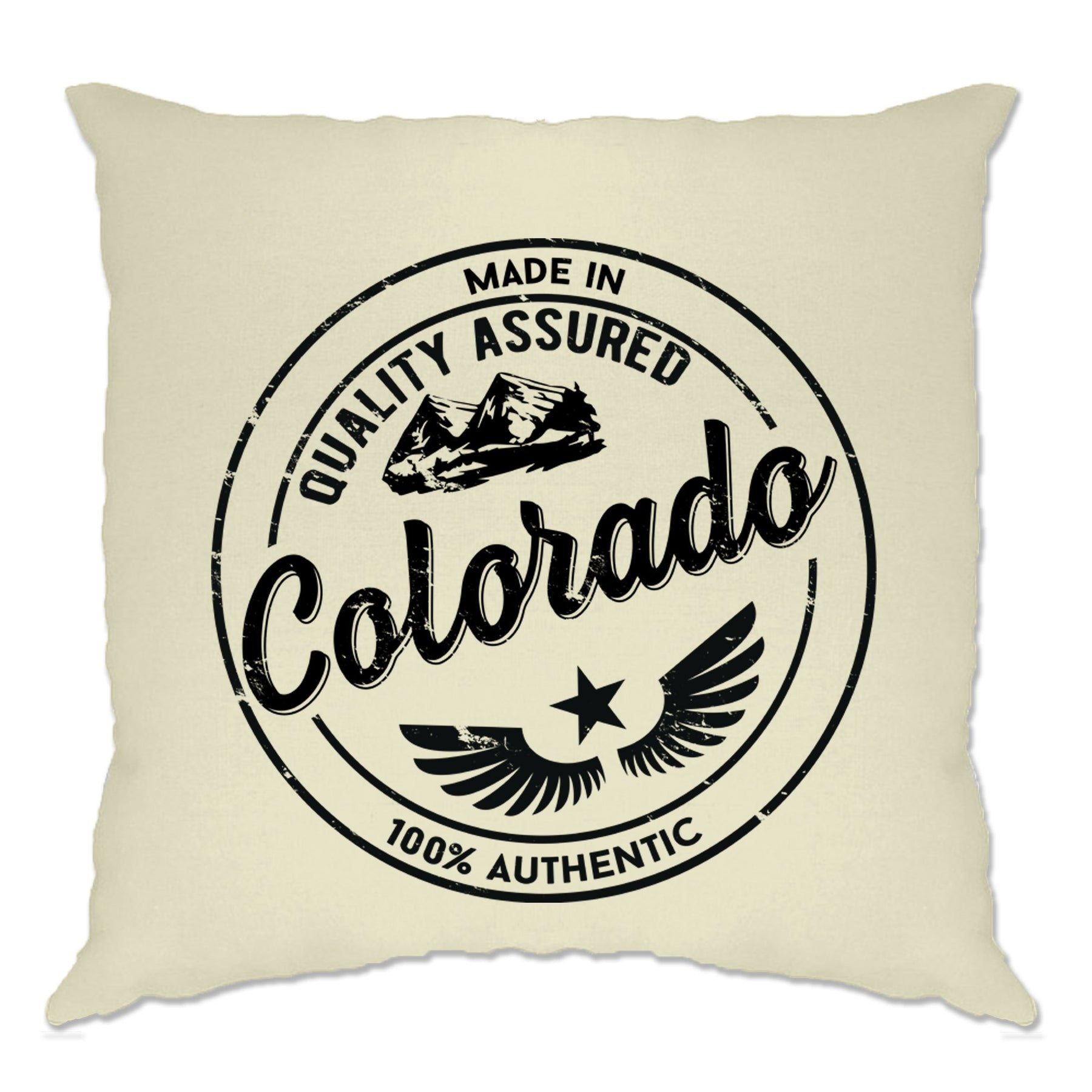 Hometown Pride Cushion Cover Made In Colorado Stamp