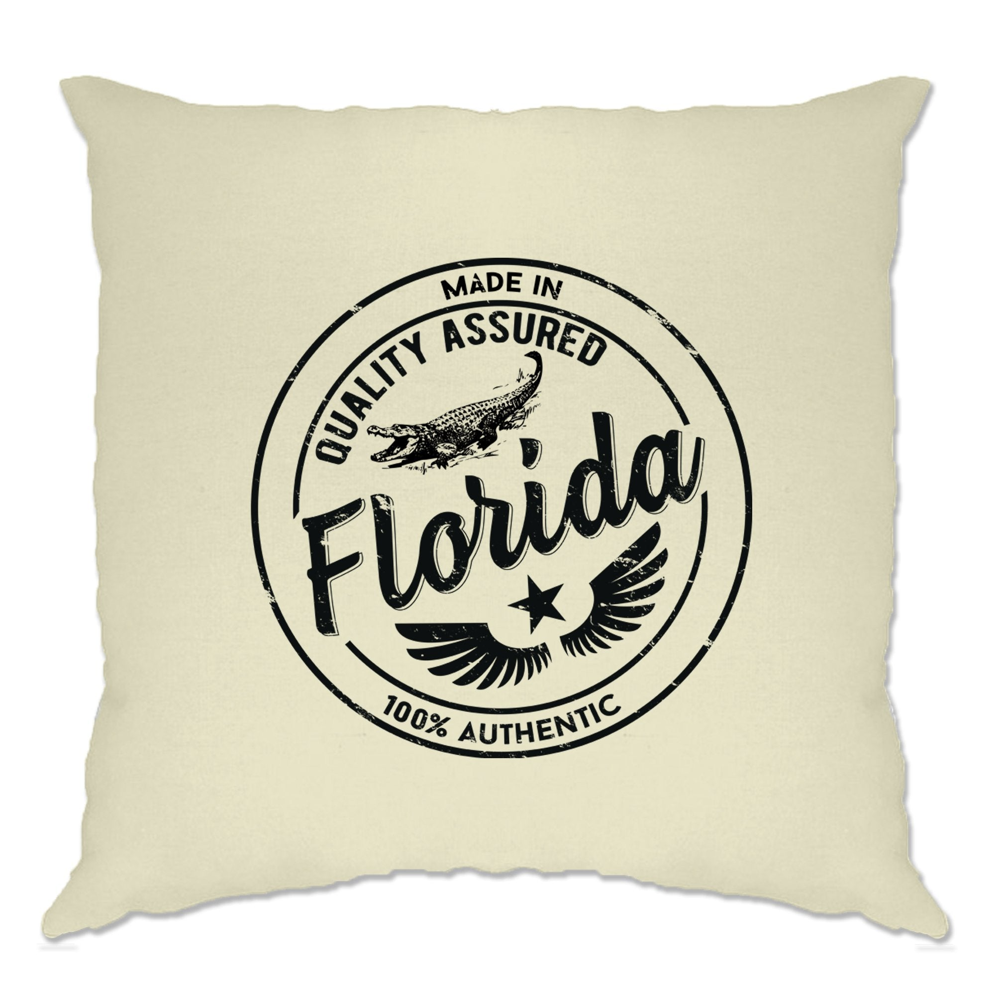 Hometown Pride Cushion Cover Made in Florida Stamp