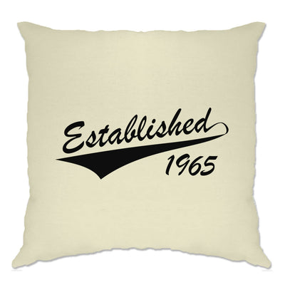 Birthday Cushion Cover Established in 1965 Logo
