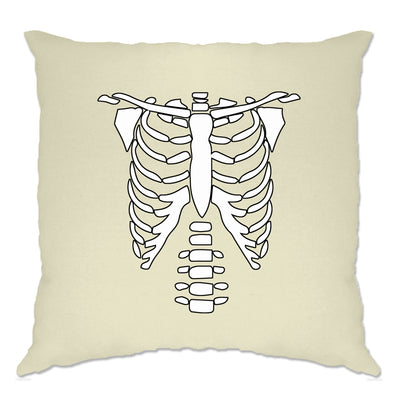 Halloween Cushion Cover Skeleton Ribcage Chest