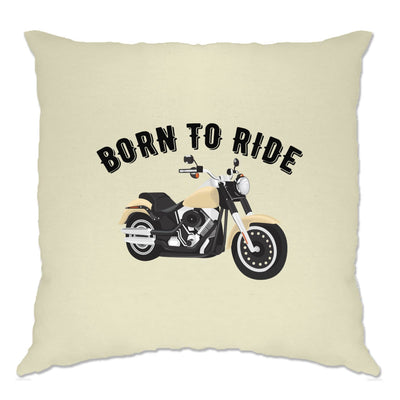 Biker Cushion Cover Born To Ride Motorcycle Slogan