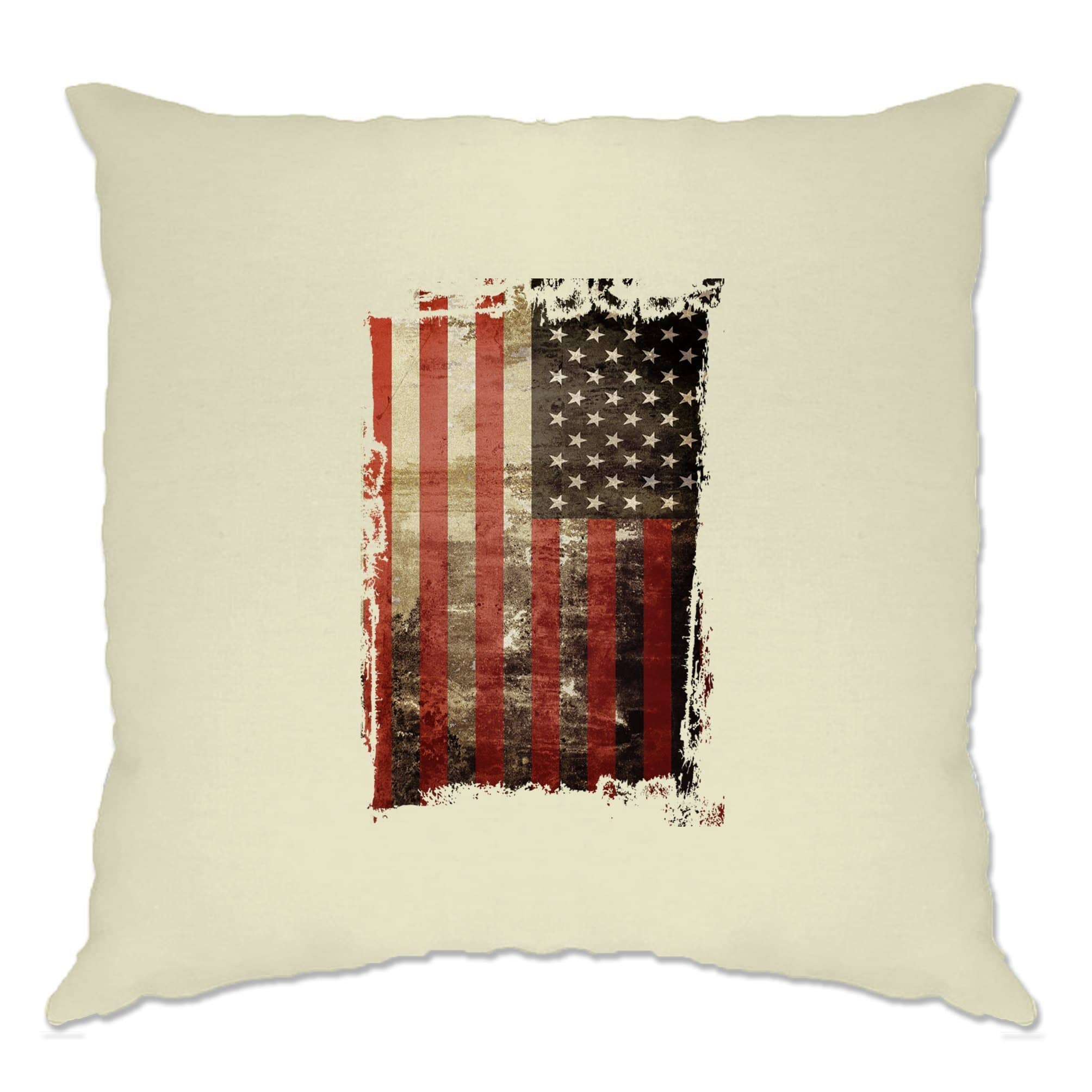 4th Of July Cushion Cover Distressed USA American Flag Art