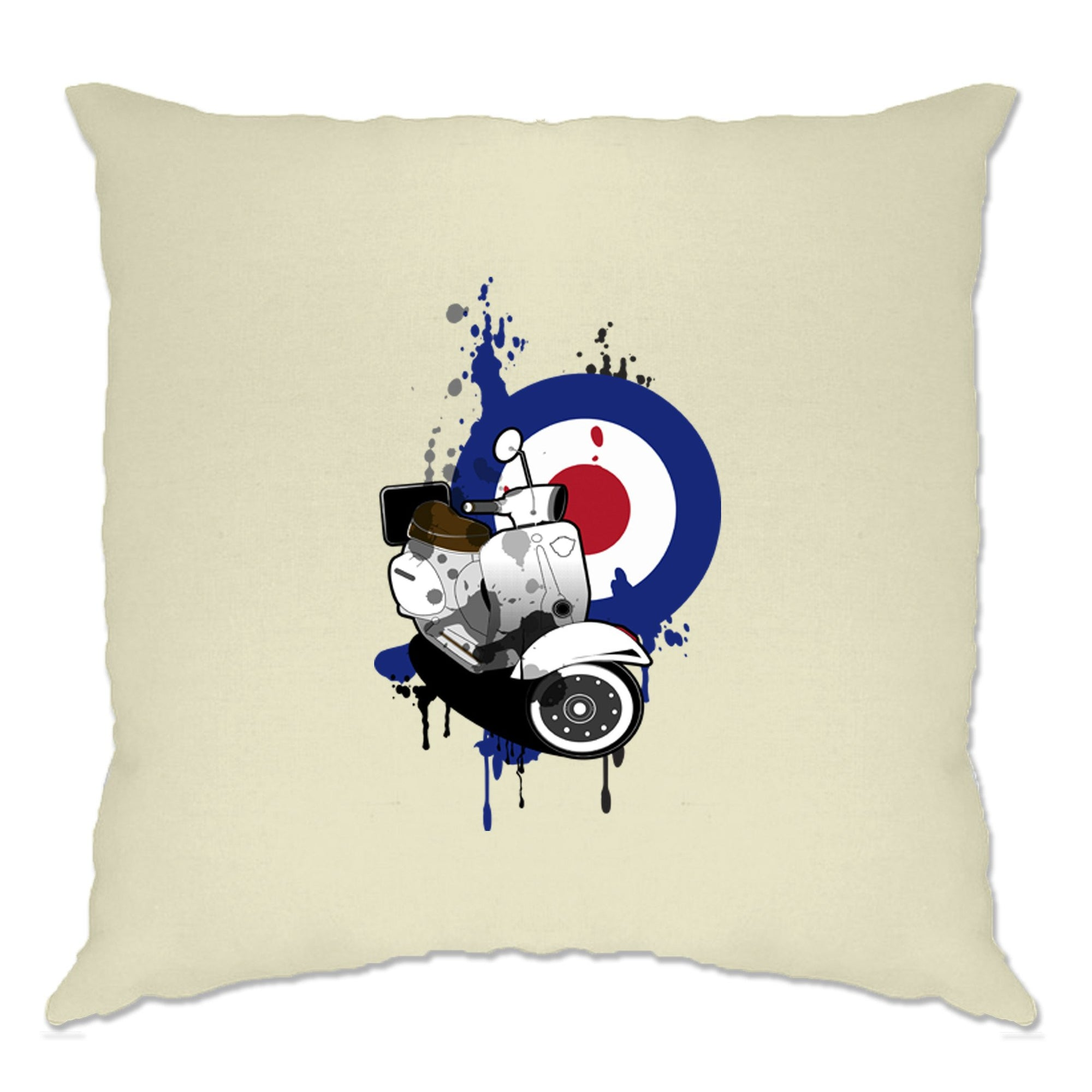 Retro Scooter Cushion Cover Moped Paint Splatter Target