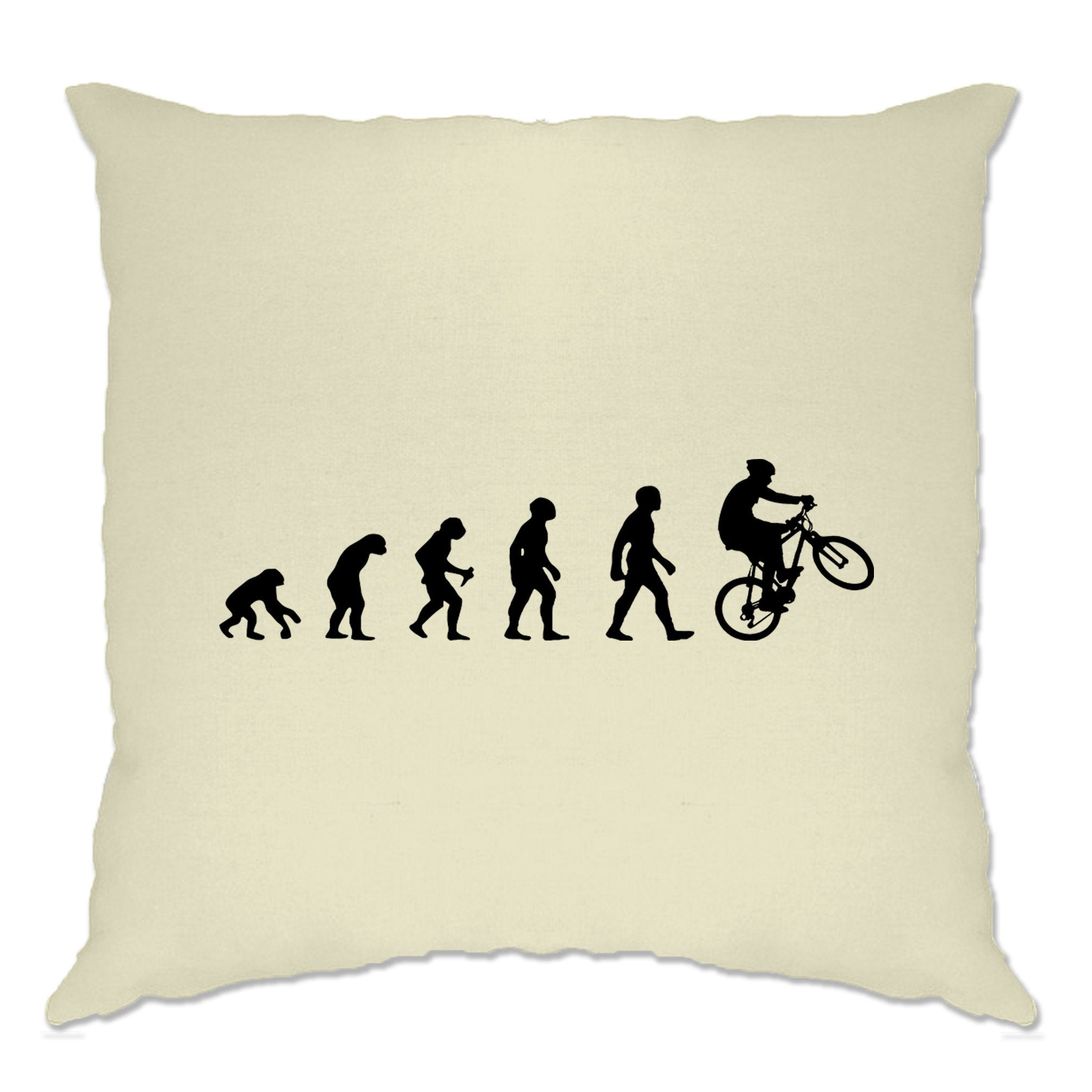 Sports Cushion Cover Evolution Of A Mountain Biker