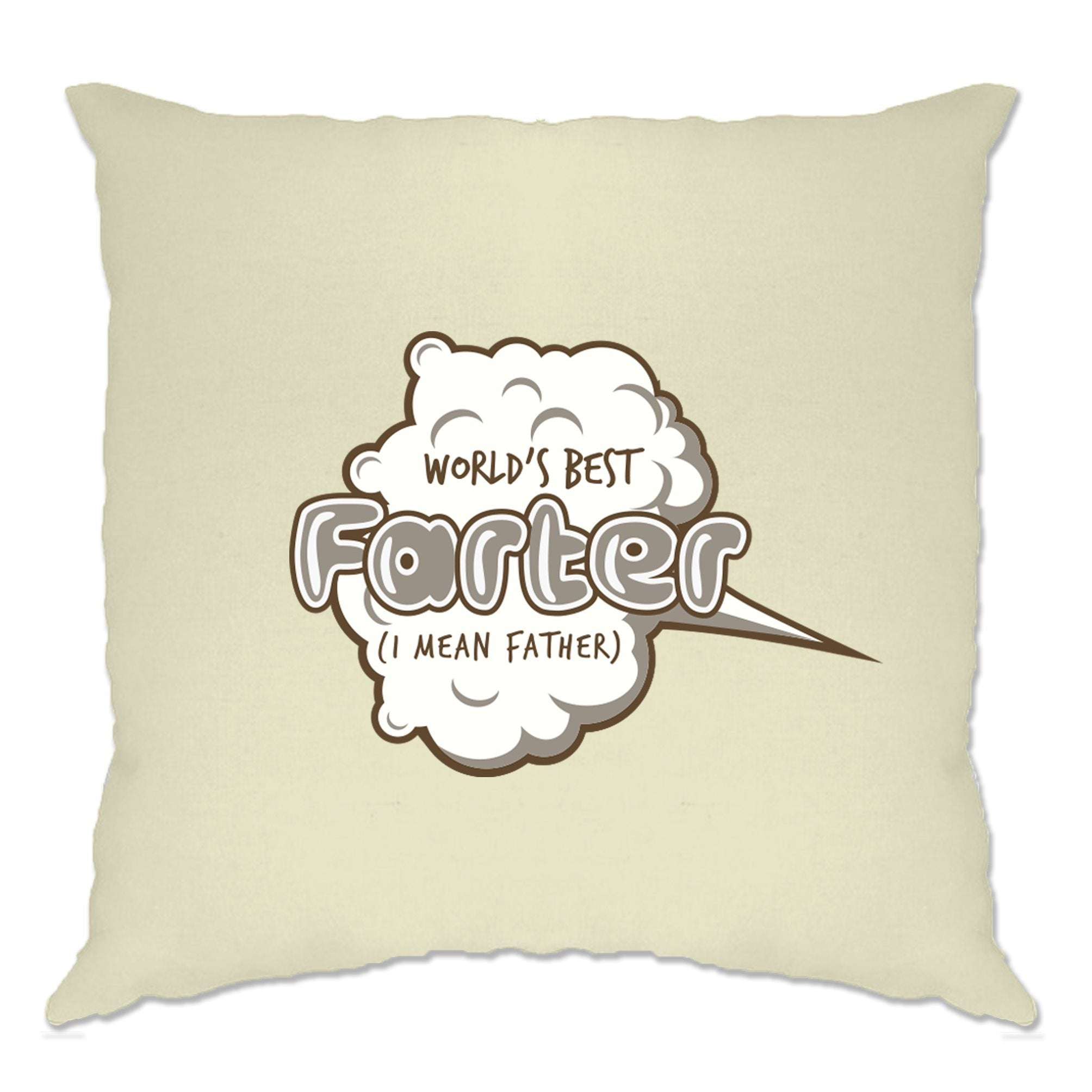Joke Father's Day Cushion Cover Worlds Best Farter Pun