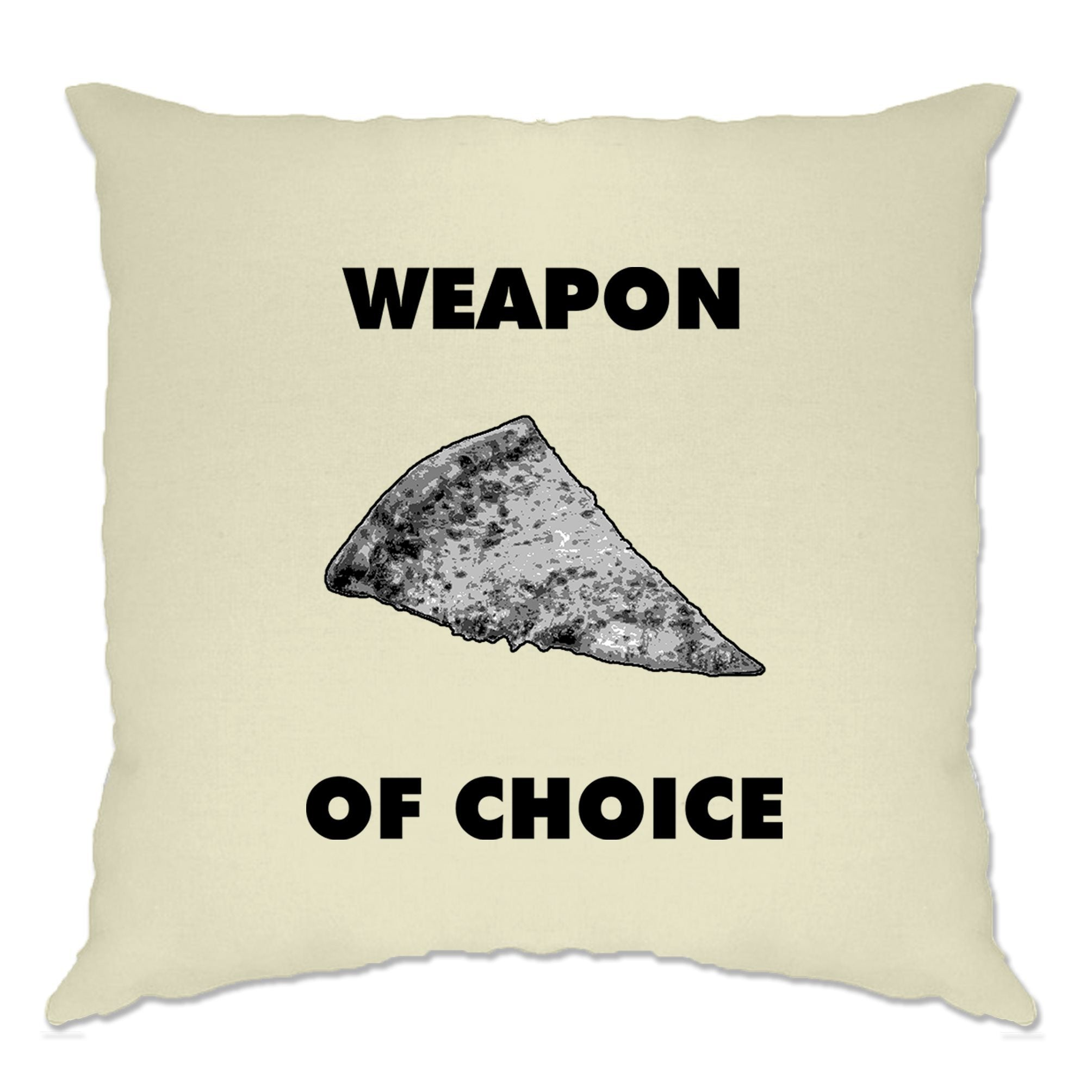 Novelty Food Cushion Cover Weapon of Choice Pizza Slice