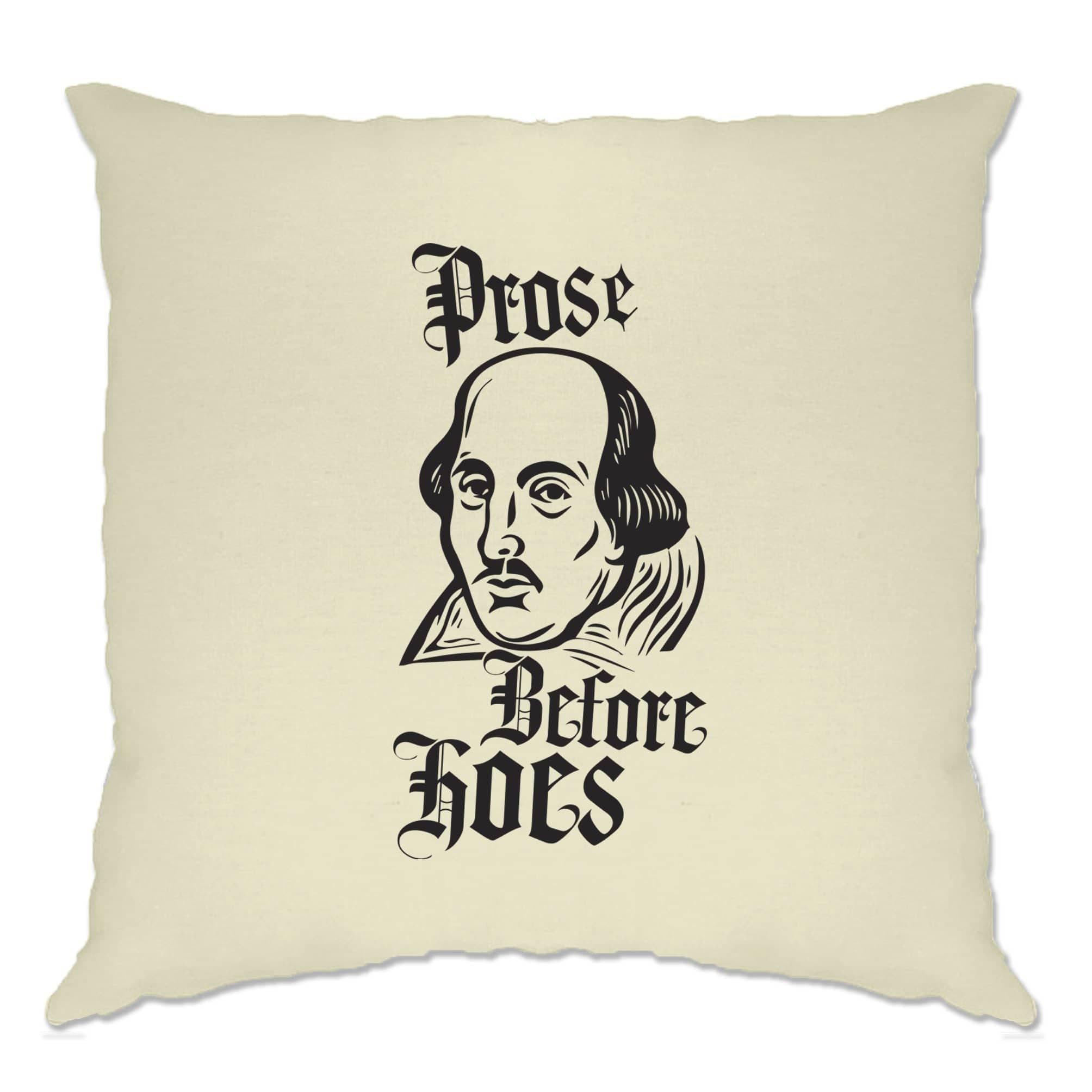 Novelty Parody Cushion Cover Prose Before Hoes Shakespeare
