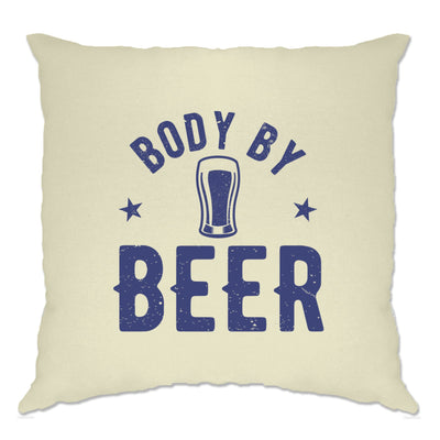 Novelty Pub Cushion Cover Body By Beer Joke Logo