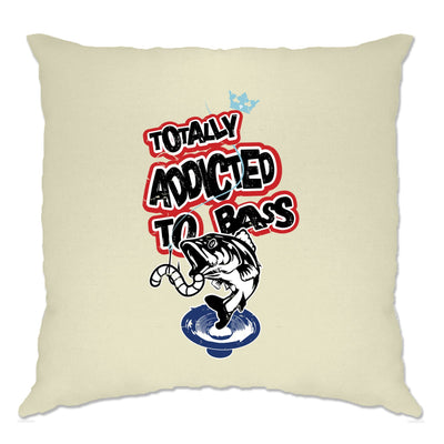 Novelty Music Cushion Cover Totally Addicted To Bass Fish