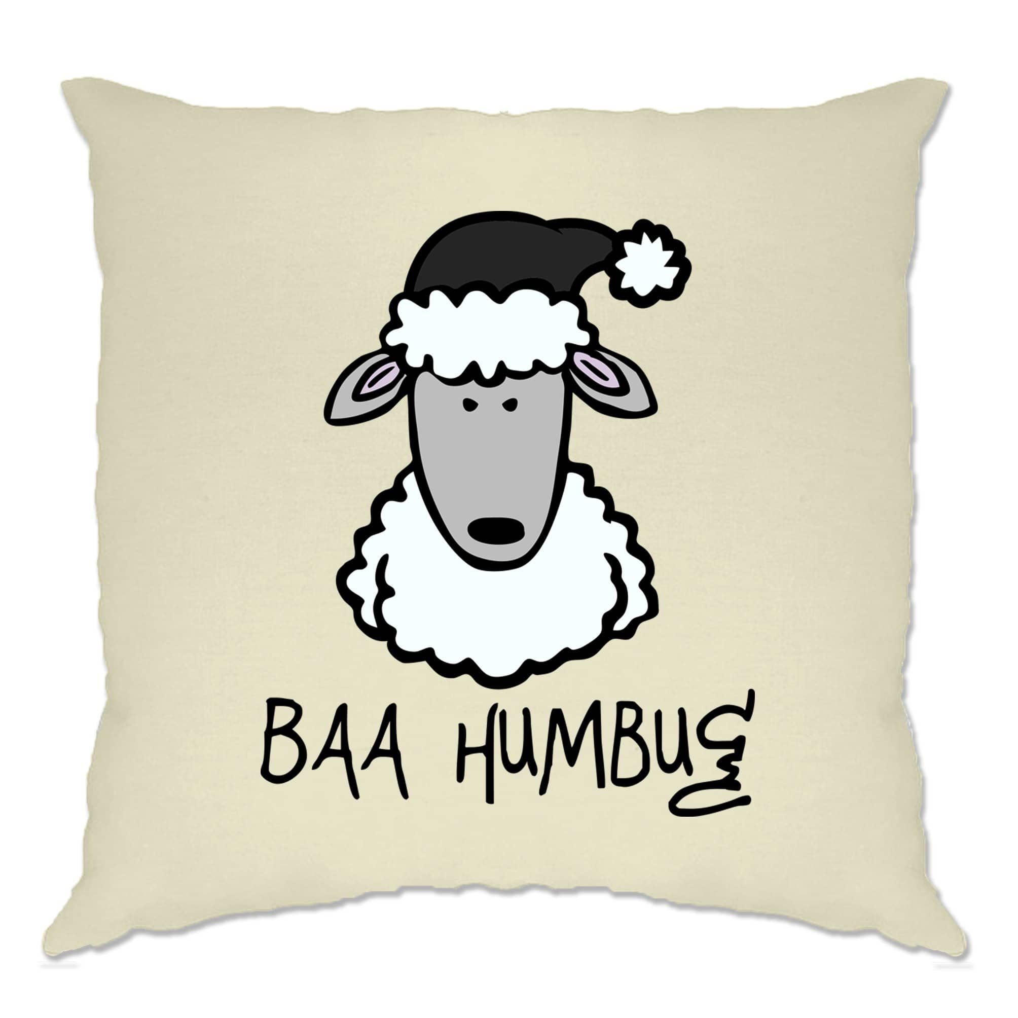 Joke Christmas Cushion Cover Baa Humbug Sheep Pun