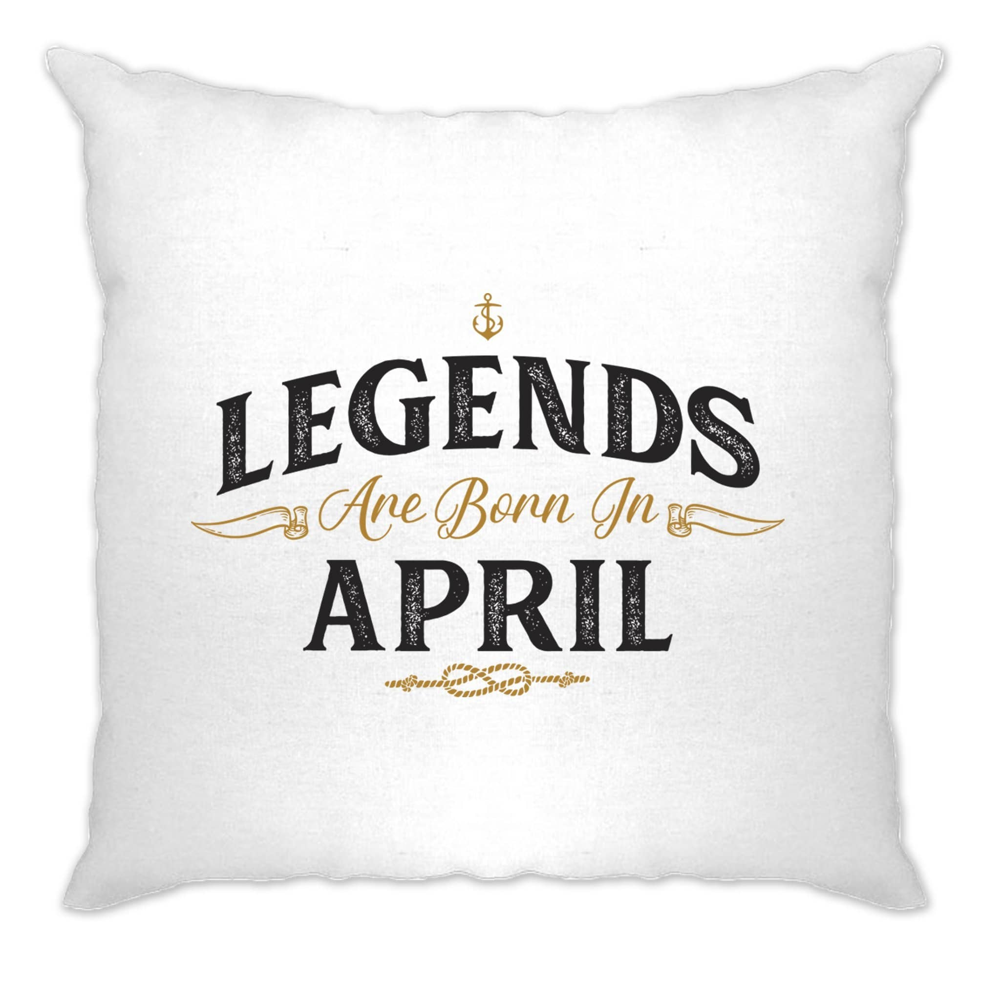 Birthday Cushion Cover Legends Are Born In April