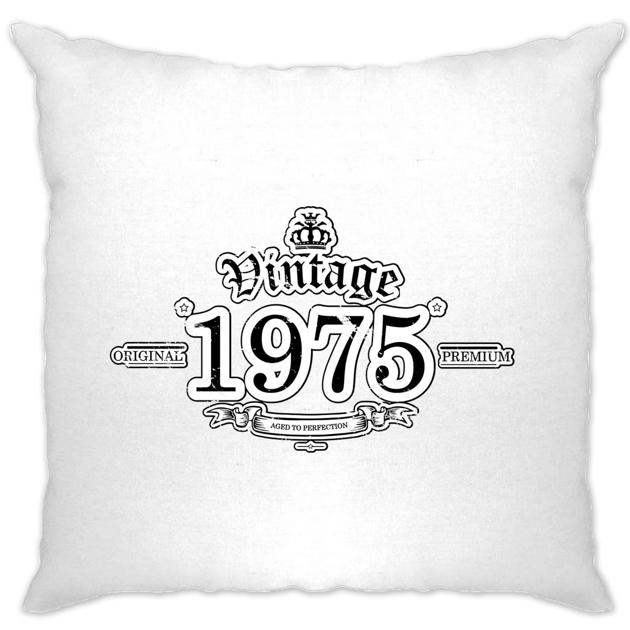 43rd Birthday Cushion Cover Vintage 1975 Aged To Perfection