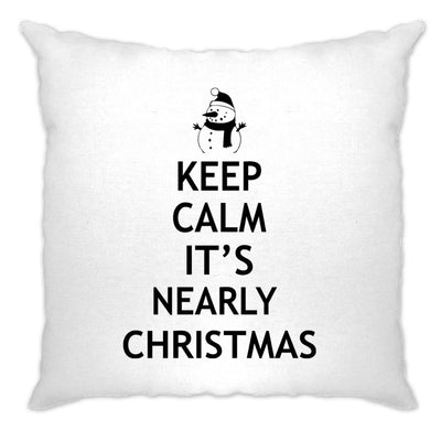 Christmas Cushion Cover Keep Calm It's Nearly Xmas