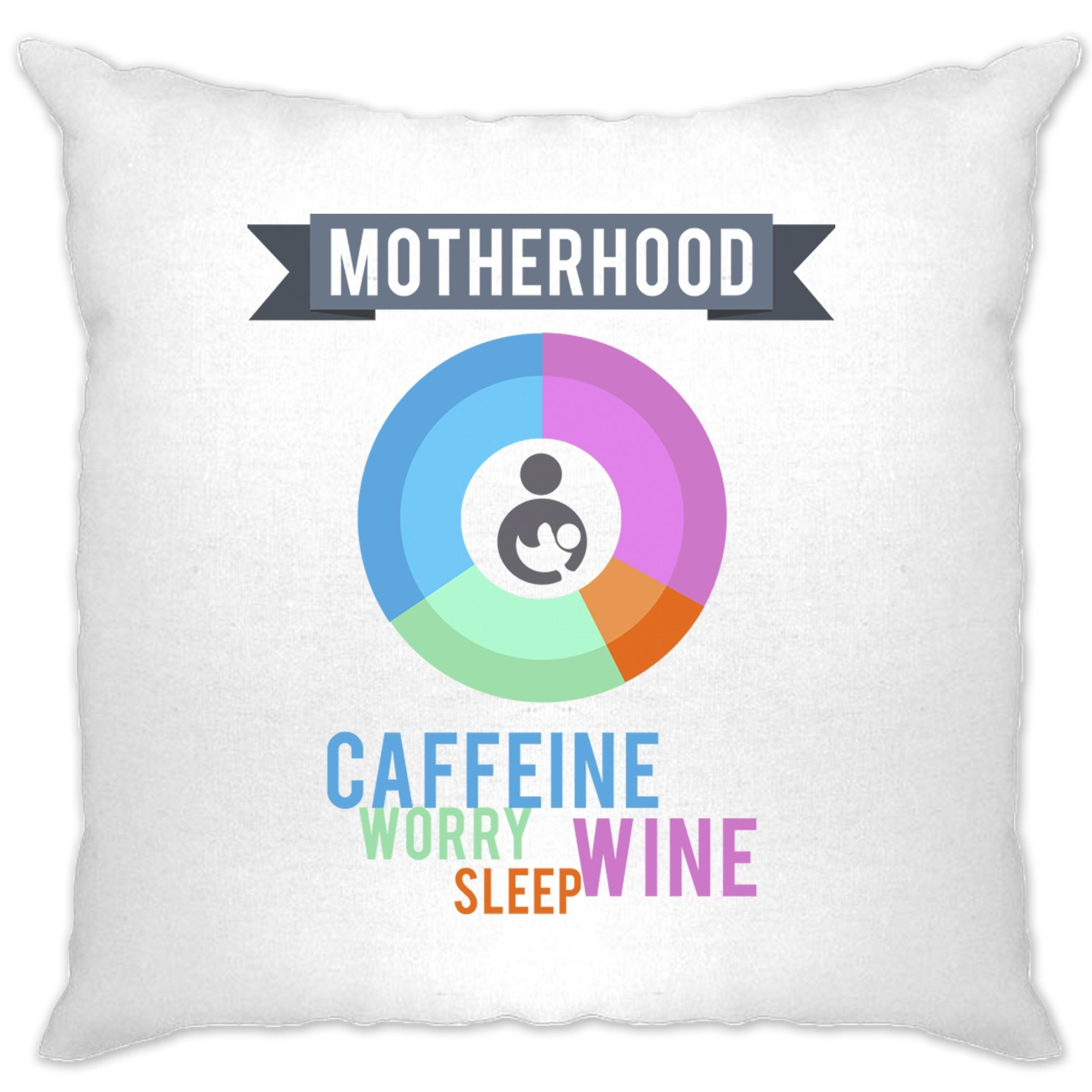 Novelty Mothers Day Cushion Cover Motherhood Infographic