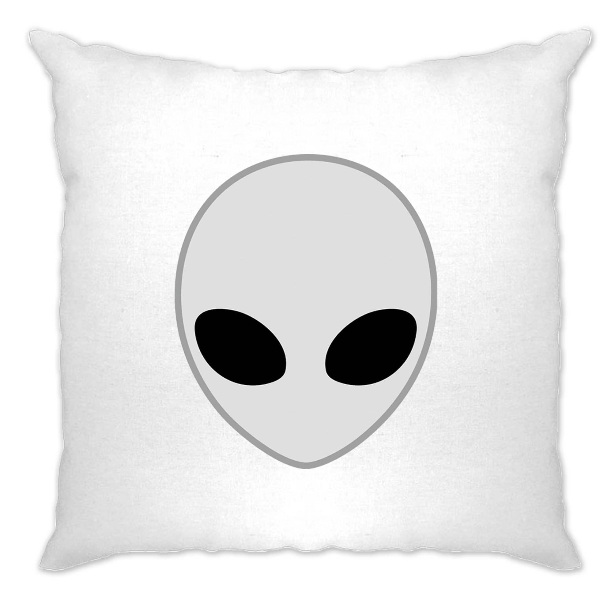 Alien Cushion Cover Nerdy Iconic Sci Fi Head Design