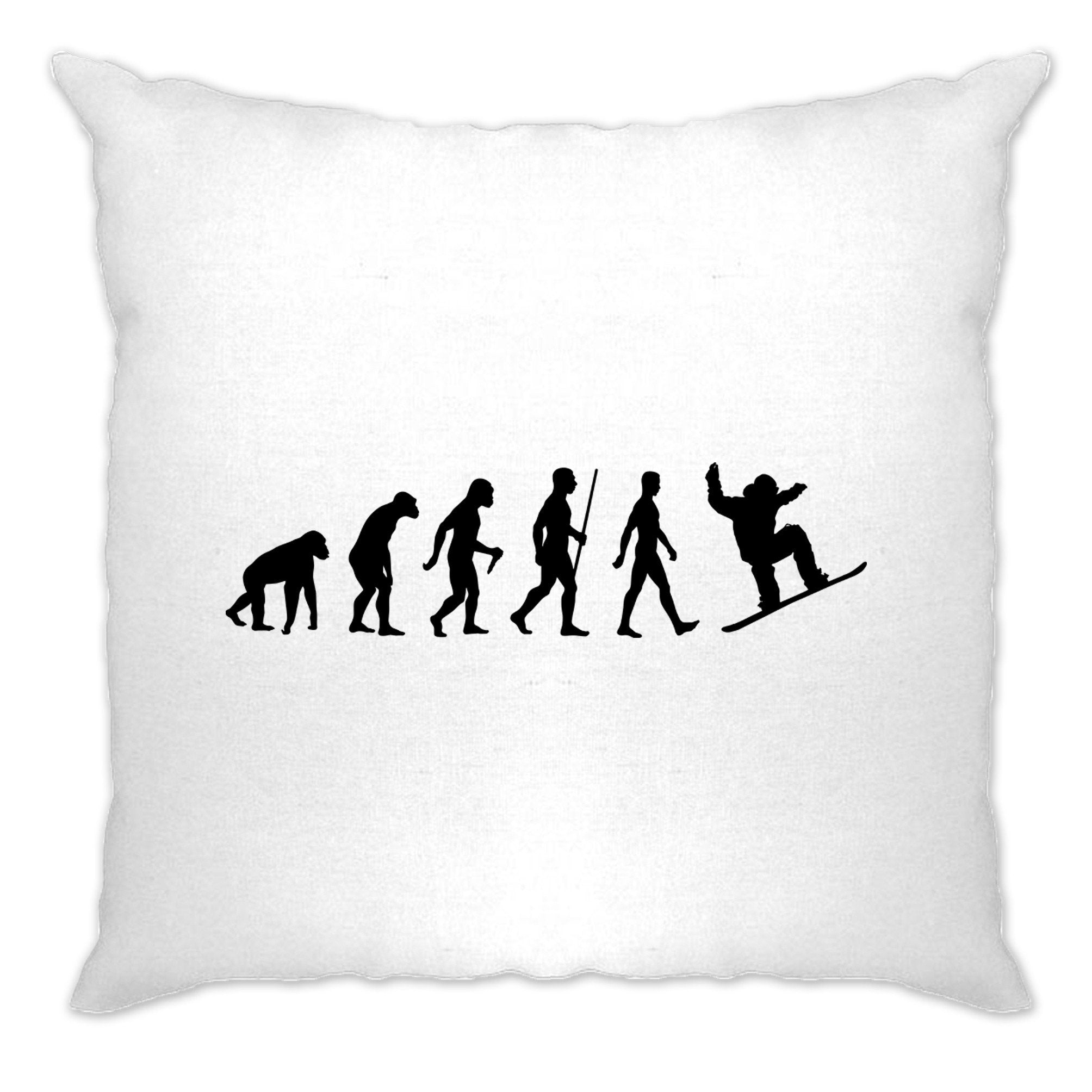 Sports Cushion Cover The Evolution Of A Snowboarder