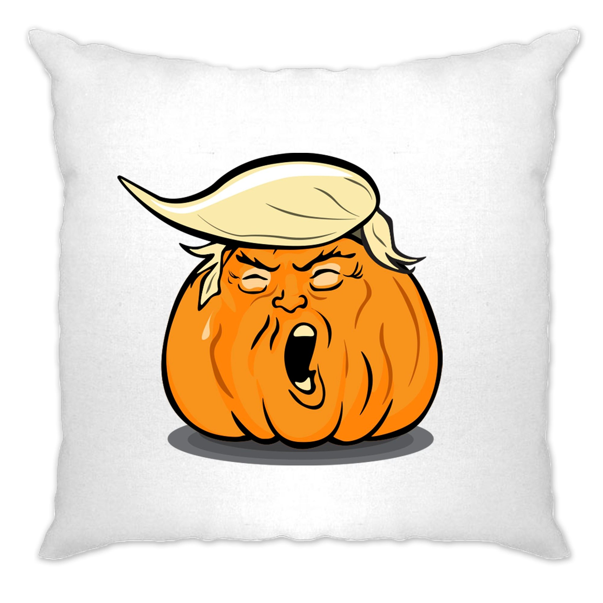 Donald Trump Cushion Cover Haloween Trumpkin Joke