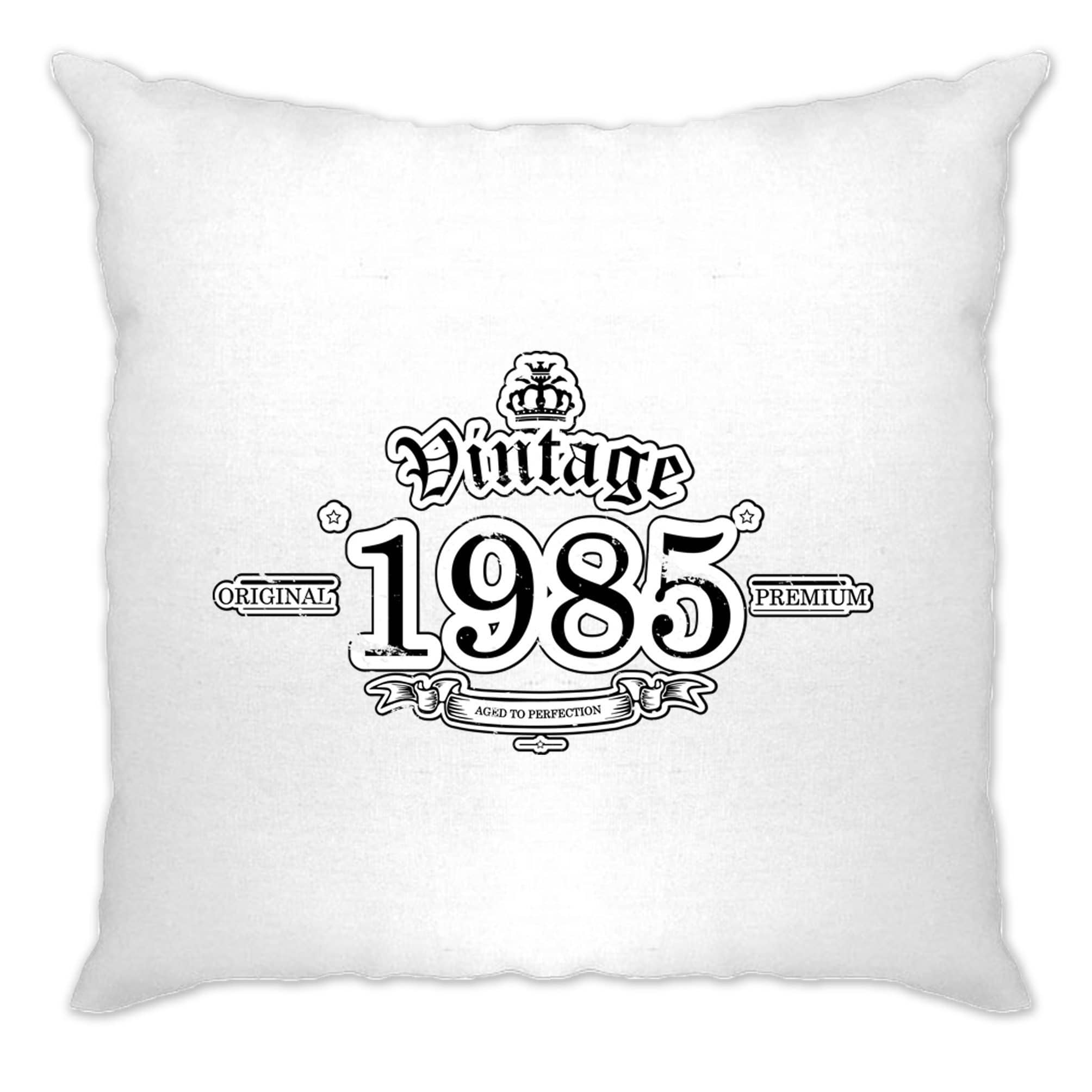 33rd Birthday Cushion Cover Vintage 1985 Aged To Perfection